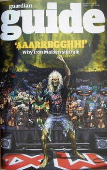 The Guardian Guide magazine - Iron Maiden cover (21 June 2008)