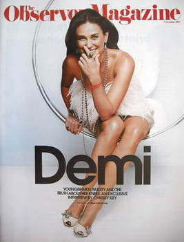 <!--2007-10-07-->The Observer magazine - Demi Moore cover (7 October 2007)