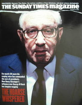<!--2006-12-17-->The Sunday Times magazine - Henry Kissinger cover (17 Dece