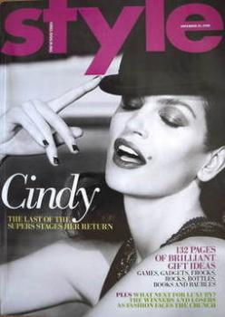 Style magazine - Cindy Crawford cover (23 November 2008)