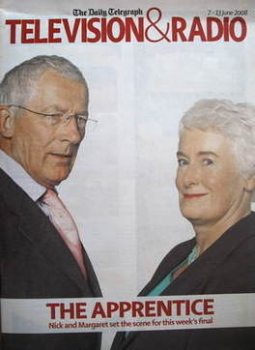 Television&Radio magazine - Margaret Mountford and Nick Hewer cover (7 June 2008)