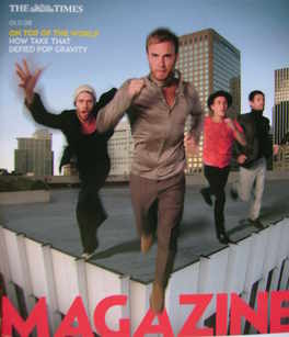 <!--2008-11-01-->The Times magazine - Take That cover (1 November 2008)