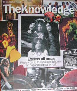 The Knowledge magazine - 1-7 November 2008 - Led Zeppelin cover