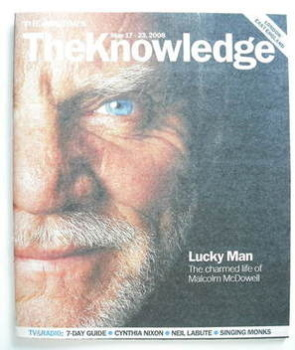 The Knowledge magazine - 17-23 May 2008 - Malcolm McDowell cover