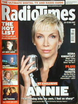 <!--2007-08-25-->Radio Times magazine - Annie Lennox cover (25-31 August 20
