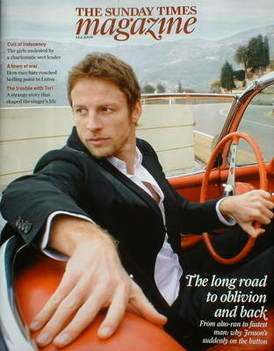 <!--2009-06-14-->The Sunday Times magazine - Jenson Button cover (14 June 2