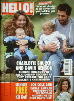 <!--2009-06-08-->Hello! magazine - Charlotte Church and Gavin Henson and fa