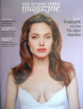 <!--2008-11-09-->The Sunday Times magazine - Angelina Jolie cover (9 Novemb