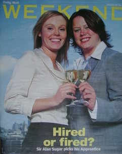 Weekend magazine - Michelle Dewberry and Ruth Badger cover (6 May 2006)