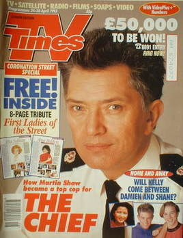 <!--1993-04-24-->TV Times magazine - Martin Shaw cover (24-30 April 1993)