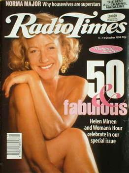 <!--1996-10-05-->Radio Times magazine - Helen Mirren cover (5-11 October 19