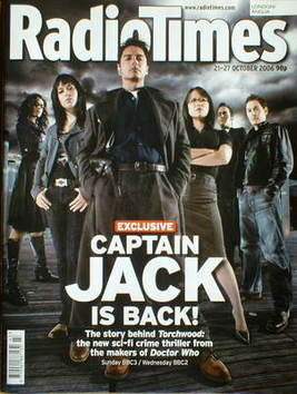 <!--2006-10-21-->Radio Times magazine - Torchwood cover (21-27 October 2006