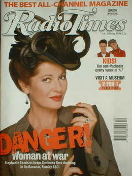 <!--1996-05-18-->Radio Times magazine - Stephanie Beacham cover (18-24 May