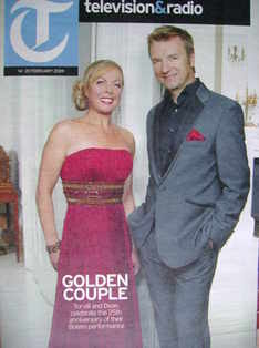 Television&Radio magazine - Jayne Torvill and Christopher Dean cover (14 Fe