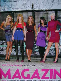<!--2007-10-27-->The Times magazine - Girls Aloud cover (27 October 2007)