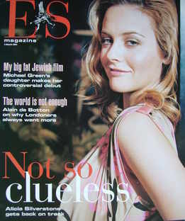 <!--2004-03-05-->Evening Standard magazine - Alicia Silverstone cover (5 March 2004)