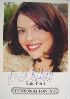 Kate Ford autograph (Coronation Street actor)