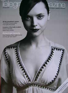 <!--2007-04-28-->Telegraph magazine - Christina Ricci cover (28 April 2007)