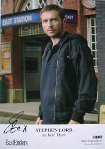 Stephen Lord autograph (ex EastEnders actor)