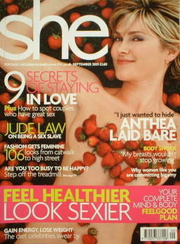 <!--2001-09-->She magazine (September 2001 - Anthea Turner cover)