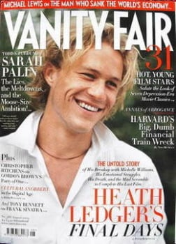 Vanity Fair magazine - Heath Ledger cover (August 2009)