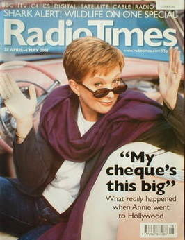 <!--2001-04-28-->Radio Times magazine - Anne Robinson cover (28 April-4 May
