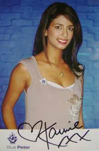 Konnie Huq autograph (ex Blue Peter presenter)