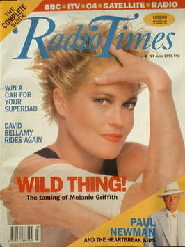 <!--1991-06-08-->Radio Times magazine - Melanie Griffith cover (8-14 June 1