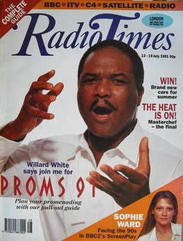 <!--1991-07-13-->Radio Times magazine - Willard White cover (13-19 July 199