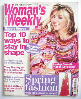 <!--2007-02-06-->Woman's Weekly magazine (6 February 2007 - Lesley Garrett