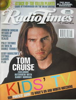 <!--1995-01-14-->Radio Times magazine - Tom Cruise magazine (14-20 January