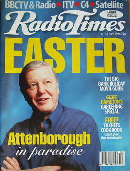 <!--2006-04-06-->Radio Times magazine - David Attenborough cover (6-12 Apri