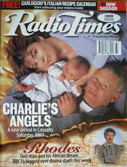 <!--1996-09-14-->Radio Times magazine - Derek Thompson and Julia Watson cov