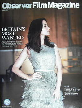 The Observer Film magazine - Emily Blunt cover (June 2009)