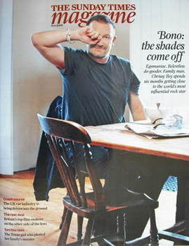 <!--2009-06-21-->The Sunday Times magazine - Bono cover (21 June 2009)
