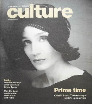 Culture magazine - Kristin Scott Thomas cover (23 October 2005)