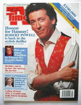 <!--1989-01-28-->TV Times magazine - Robert Powell cover (28 January - 3 Fe