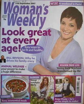 <!--2007-09-11-->Woman's Weekly magazine (11 September 2007 - British Editi