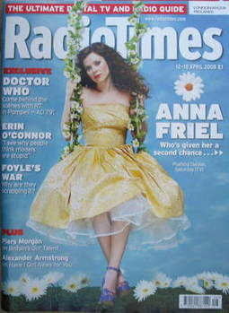 <!--2008-04-12-->Radio Times magazine - Anna Friel cover (12-18 April 2008)