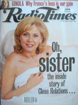 <!--1998-06-13-->Radio Times magazine - Amanda Redman cover (13-19 June 199
