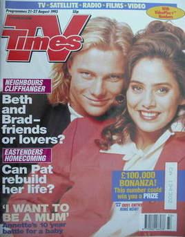 <!--1993-08-21-->TV Times magazine - Natalie Imbruglia and Scott Michaelson