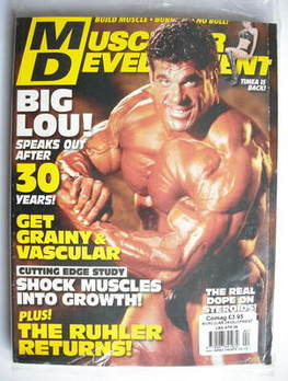 Muscular Development magazine - Lou Ferrigno cover (April 2009)