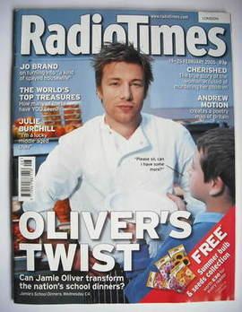 <!--2005-02-19-->Radio Times magazine - Jamie Oliver cover (19-25 February