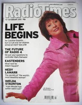 <!--2005-02-12-->Radio Times magazine - Caroline Quentin cover (12-18 Febru