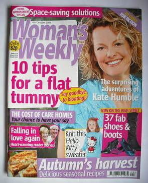 <!--2009-10-06-->Woman's Weekly magazine (6 October 2009 - Kate Humble cove