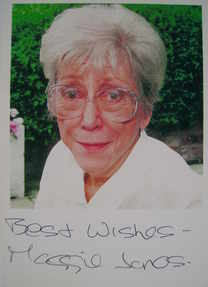 Maggie Jones signed photograph