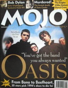 MOJO magazine - Oasis cover (January 1995 - Issue 14)