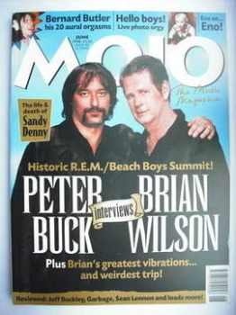 MOJO magazine - Peter Buck and Brian Wilson cover (June 1998 - Issue 55)