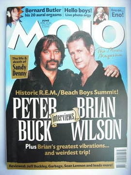 <!--1998-06-->MOJO magazine - Peter Buck and Brian Wilson cover (June 1998