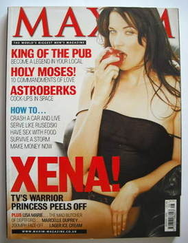 <!--1999-08-->MAXIM magazine - Lucy Lawless cover (August 1999)